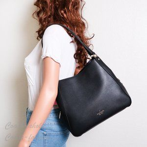 NWT Kate Spade Leila Medium Shoulder Bag in Black